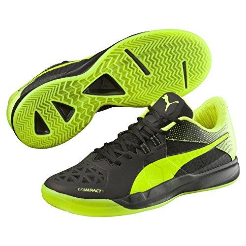 Puma Evoimpact 1.2, Botas de Fútbol para Hombre Negro - Schwarz (black-safety Yellow 01)