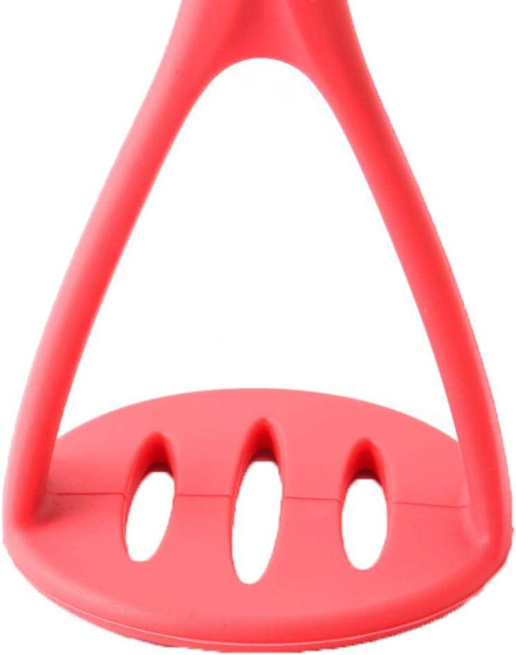 Rouge MerryDate Presse-Pur/ée//Ecrase Pur/ée ustensile de Cuisine avec Protection Silicone pour Cuisine h/ôtel Restaurant Utiliser