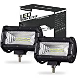 LED light Pods, OFFROADTOWN 2 pcs 144w LED Light Bar OSRAM Flood Beam Fog Lights Waterproof Driving Light for Off road, Heavy Duty, UTV, Truck, ATV, SUV, Jeep, 3 Years Warranty