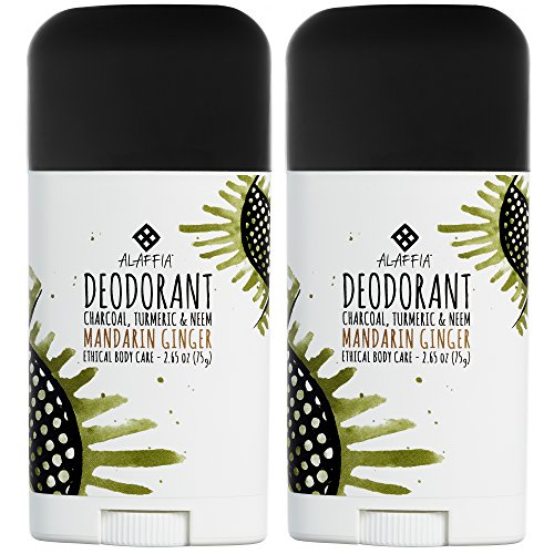 Alaffia - Neem Turmeric - Activated Charcoal Deodorant, Mandarin Ginger, 2 - Gingers Fund
