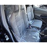 ビニールシートカバー 使い捨てシートカバー 養生シートカバー フロント カバー 車 運転席 助手席 用 シートカバー 100枚