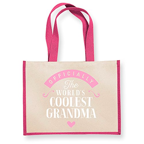 Gifts Tote Shoppin Bag Grandma Birthday Gifts From Granddaughter Great Fuchsia Present Funny Keepsake Personalised Gift wq1A7xATFY