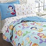 Wildkin Olive Kids Mermaids Bed in A Bag-Twin Bedding (5-Piece)