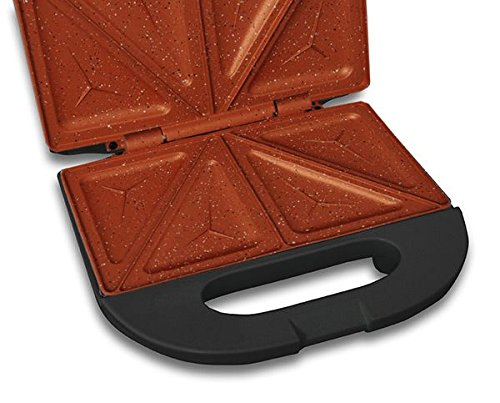 Sandwichera Moderna ELDOM ST11 Placas Ceramicas Negro 700W