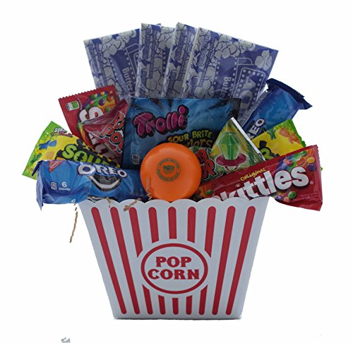 Ultimate Movie Night Gift Bundle Care Package, Easter Basket, Popcorn, Candy, Cookies]()