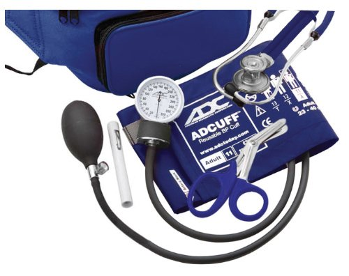 ADC-Pros-Combo-IV-769641-Fanny-Pack-Kit-with-Pocket-Aneroid-Sphygmomanometer-Stethoscope-Shears-and-Penlight-Adult-Royal-Blue