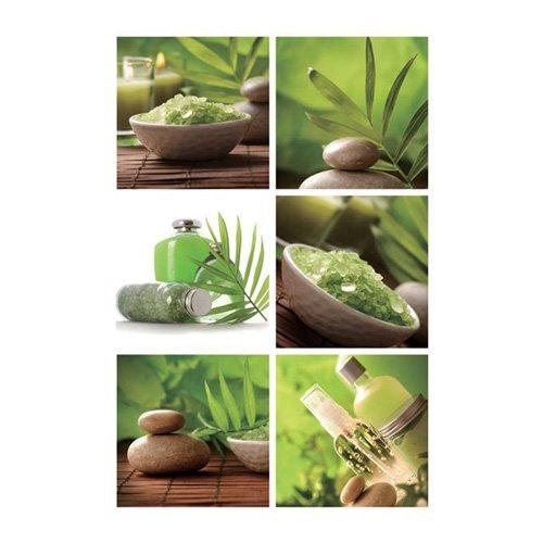 Amazon.de: 6 Sticker Fliesen Zen - Grün