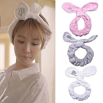 Cute Bunny Big Rabbit Ear Soft Towel Hair Band Wrap Headband For Bath Spa  Make Up e694db0d6421
