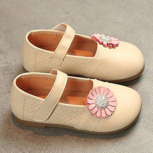 Schuhe jany 0-6 Jahre Alte Mädchen Lederschuhe Kinder Kinder Casual Floral Single Schuhe Sneaker Beige