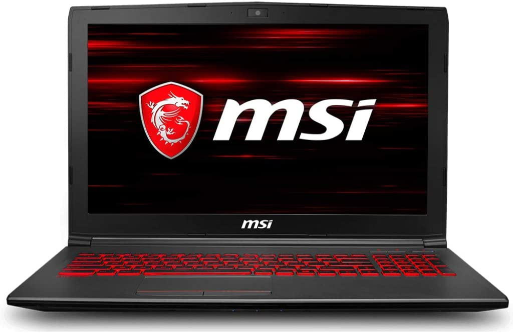 "MSI GV62 8RD-275 15.6"" Performance Gaming Laptop NVIDIA GTX 1050Ti 4G, Intel Core i5-8300H, 8GB, 256GB NVMe SSD, Red Backlit KB, Win 10 Home, Aluminum Black (Renewed)"
