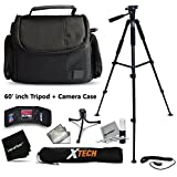 Premium Well Padded Camera CASE / BAG and Full Size 60 inch TRIPOD Accessories KIT for FUJIFILM Finepix XP80 XP70 X100T X100S X100 XT10 XT1 XA2 XA1 XQ2 XQ1 XE2 XE1 XPro1 X30 X20 X10 XM1 XF1 X-S1 Fujifilm FINEPIX S9900W S9800 S9400W S9200 S8600 S8500 [並行輸入品]