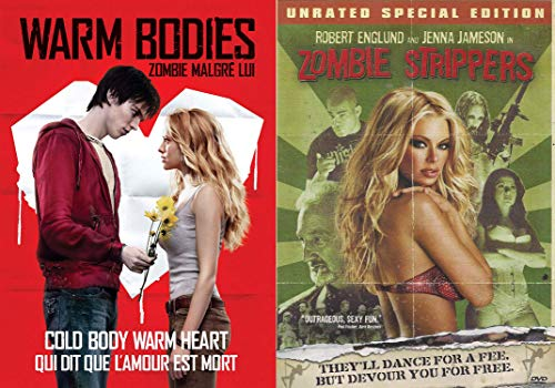 Zombie Love Sexy Romance DVD Bundle - Warm Bodies & Zombie Strippers (Unrated Special Edition) 2-DVD -