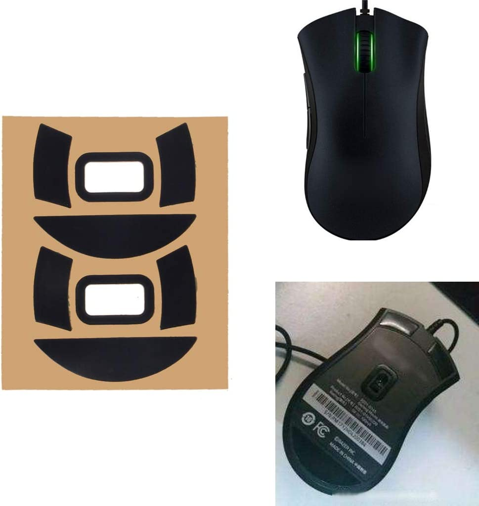 CUCUDAI 2 Sets//Pack Original Hotline Games Competition Level Mouse Feet Mouse Skates Gildes for Razer DeathAdder Essential 2000 Mouse 0.6mm Thickness Teflon