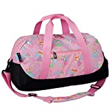 Wildkin Overnighter Duffel Bag, Features Moisture-Resistant Lining and Padded Shoulder Strap, Perfect for Sleepovers, Sports Practice, and Travel, Olive Kids Designs – Fairy Princess