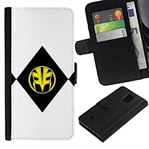 All Phone Most Case / Oferta Especial Cáscara Funda de cuero Monedero Cubierta de proteccion Caso / Wallet Case for Samsung Galaxy S5 Mini, SM-G800 // BLACK & YELLOW MASK
