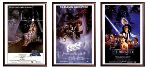 Framed Star Wars: Episode IV, V & VI - Movie 24x36 Poster in