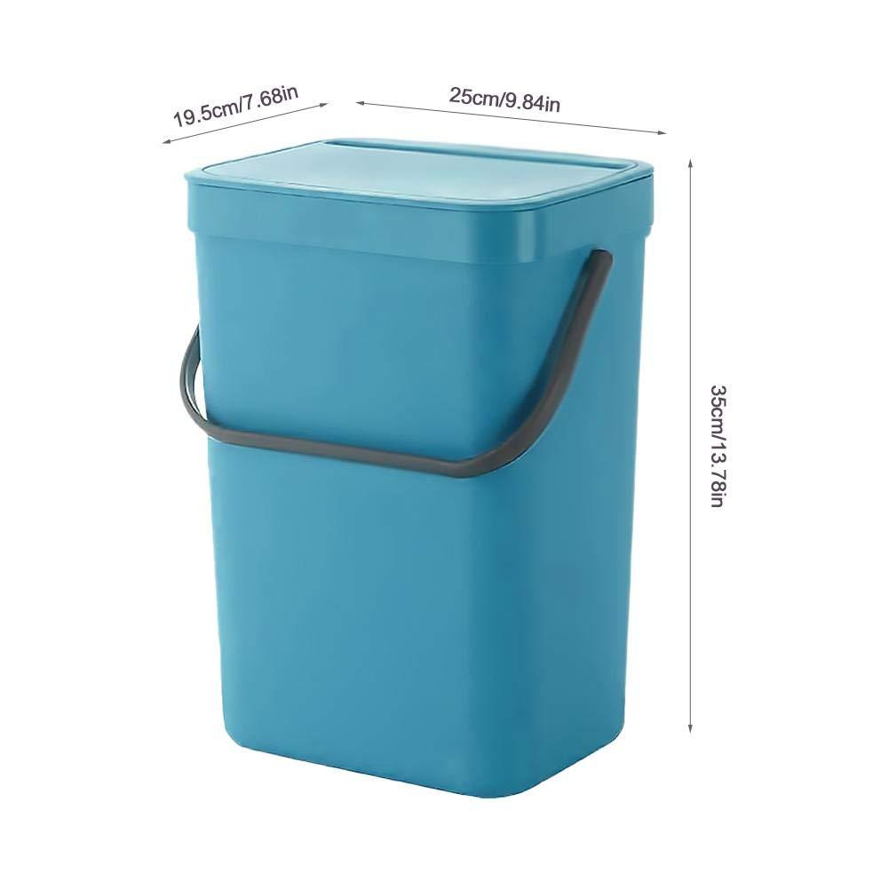 decaden Plastic Wall Mounted Hogar Bote de Basura con Tapa Cocina Ba/ño Colgando Cubo de Almacenamiento Bote de Basura Cubos de Reciclaje de Interior