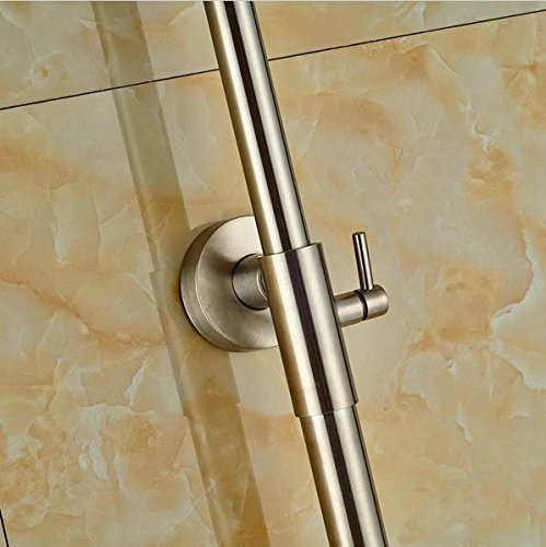 GOWE Single Lever Bathroom Shower Set Bath 10-in Shower Faucet With Hand Shower Wall Mounted 2
