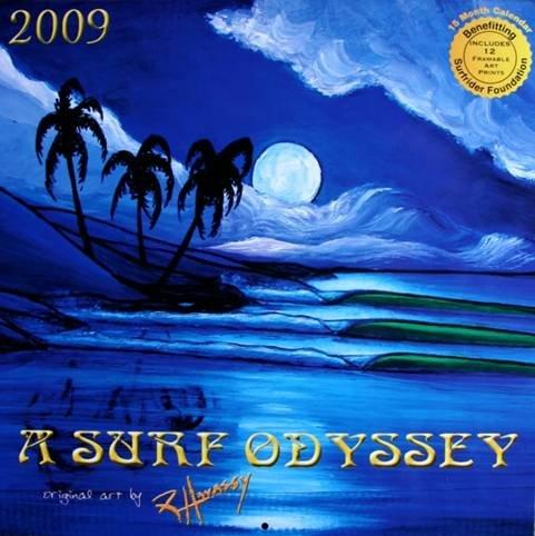 2009 SURF ODYSSEY CALENDAR by artist Robb Havassy