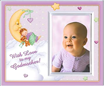 with love to my godmother girl picture frame gift