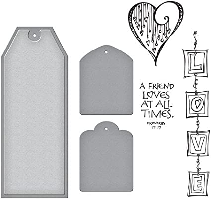 Amazon.com: Spellbinders sds-083 Love Stamp & die set Biblia ...