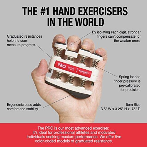PRO Hand and Finger Exerciser, Medium Tension (7 lbs per Finger)