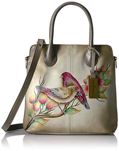Anuschka Handpainted Leather Medium Expandable Convertible Tote, Summer Tryst by ANUSCHKA