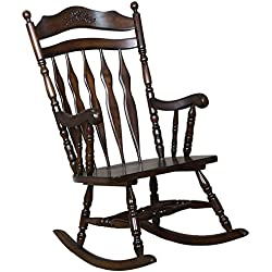 Coaster Traditional Medium Brown Wood Rocking Chair