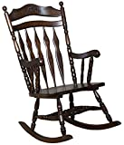 Cheap Coaster Traditional Medium Brown Wood Rocking Chair