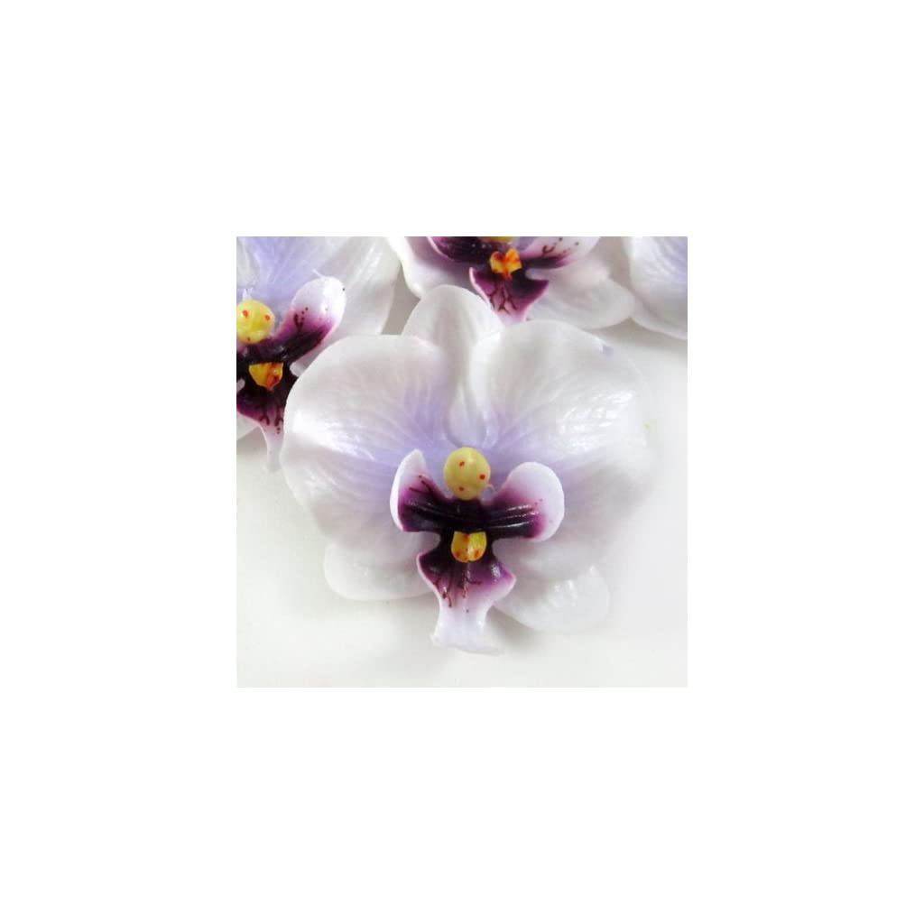 12-Small-White-Purple-Phalaenopsis-Orchid-Silk-Flower-Heads-2-Artificial-Flowers-Heads-Fabric-Floral-Supplies-Wholesale-Lot-for-Wedding-Flowers-Accessories-Make-Bridal-Hair-Clips-Headbands-Dress