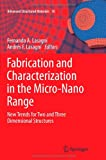 Fabrication and Characterization in the Micro-Nano Range : New Trends for Two and Three Dimensional Structures, , 3642267548