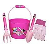 Wonder Woman Kids Garden Combo Pack Including: Plastic Bucket, Cotton Jersey Gloves & Garden Tools, Style: DCWP16P02