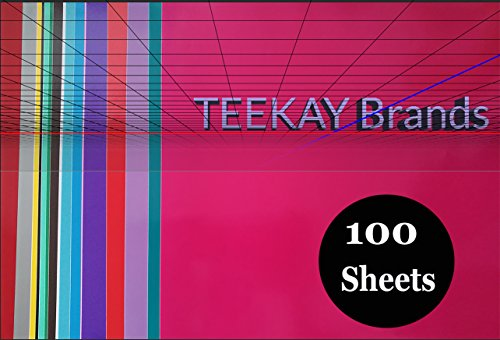 100 - Permanent Self Adhesive Vinyl Sheets -12 x 12 inch, Easy to Weed Sheets that Works With Cricut and All Cutters. Assorted colors in Glossy, Matt, Metallic, Neon, Gold (Red Auto Cutter)