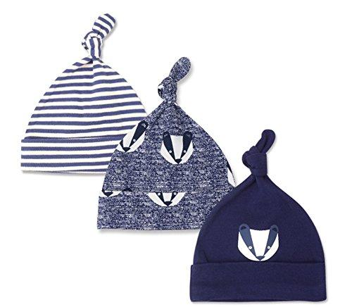 XiFe Newborn Boy Nursery Beanie Hospital Hat Cotton Adjustable Knot Cap (Striped Color)
