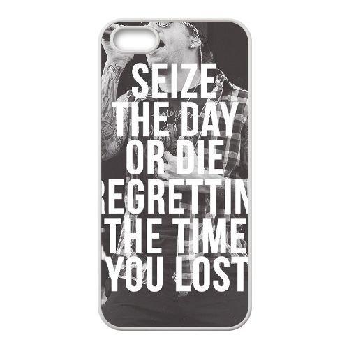 Avenged Sevenfold coque iPhone 5 5S Housse Blanc téléphone portable couverture de cas coque EBDOBCKCO12763