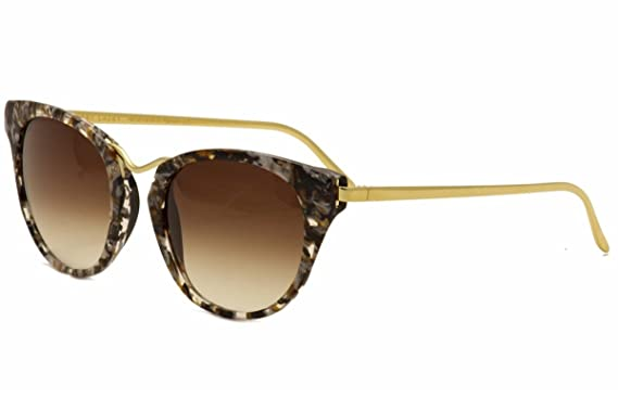 7f9982f6032 Image Unavailable. Image not available for. Color  Thierry Lasry Women s  Hinky 101 Black 24 K Gold Plated Cat Eye Sunglasses 55mm