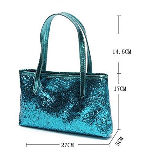 Tote Handbag Bag Purse Blue Women Hobo Leather NEW Shiny Handbag Shoulder Satchel nqR5II