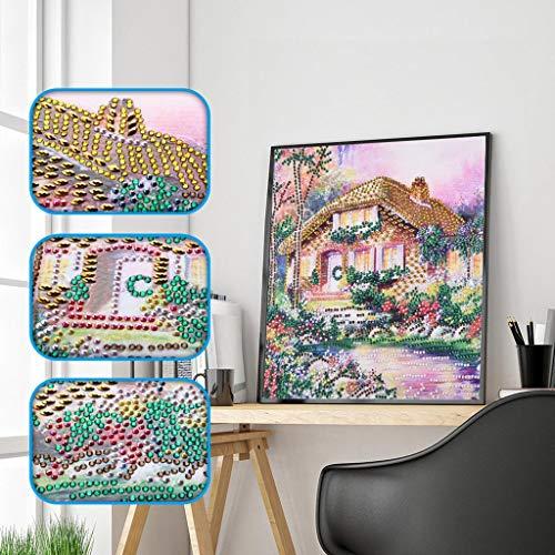 iYBWZH Diamond Painting House DIY 5D Cross Stitch Kits Art Craft -