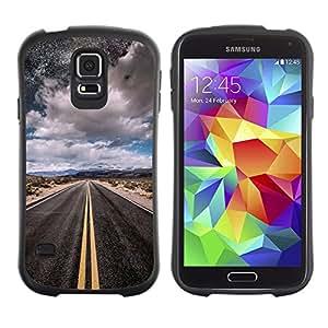 Paccase / Suave TPU GEL Caso Carcasa de Protección Funda para - Night Sky Moon Freedom Car - Samsung Galaxy S5 SM-G900