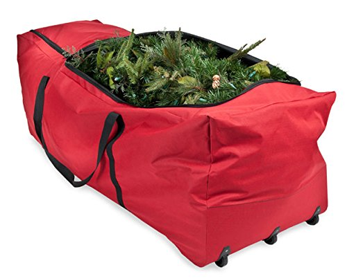 Santas Bags Rolling Tree Storage Duffel, for 6 to 9-Foot (Rotating Artificial Christmas Trees)