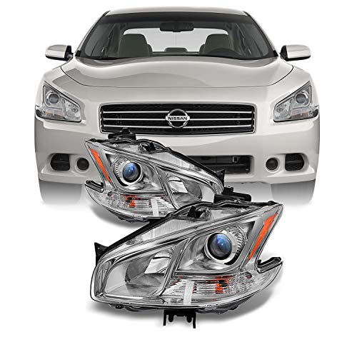 4dr Sedan Coupe - For Maxima 4Dr Sedan Projector Halogen Type Headlights Driver Left + Passenger Right Replacement