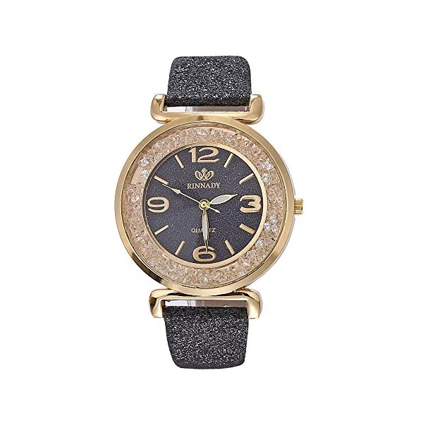 Eduavar Womens Watches Sale Clearance Women Clock Analog Quartz Watch Fashion Wrist Watch Casual Business Bracelet Watches Gift Round Dial Case Leather Stainless Steel Band Watches