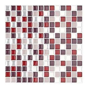 Amazon.com: FARONZE Kitchen Mosaic Wall Tiles Peel and ...