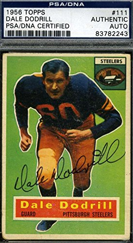 Dale Dodrill 1956 Topps Signed Certified Authentic Autogr...