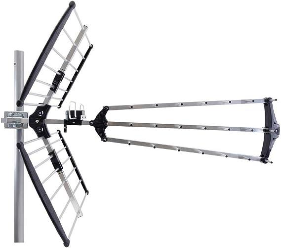 BeMatik - Antena de exterior de TV/TDT UHF de 15dB tipo fácil montaje