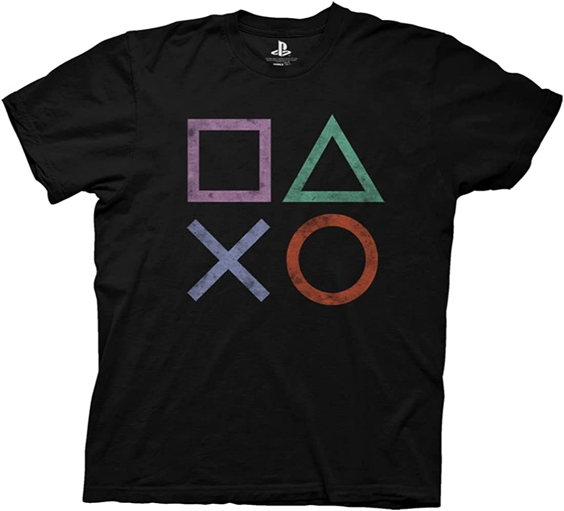 Ripple Junction Playstation Vintage Icons Adult T-Shirt