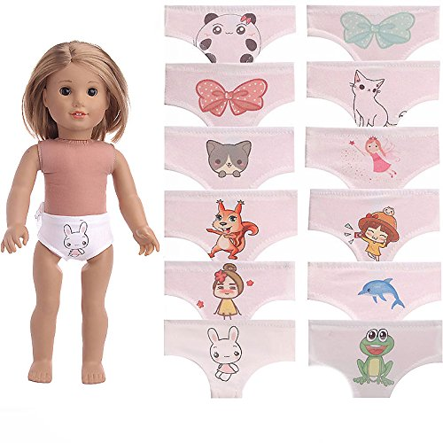 ZWSISU Lot 10pcs Underwear for American 18Inch Girl Doll,Doll Accessories