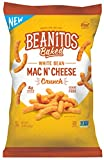 Beanitos Mac n' Cheese White Bean Crunch, Plant Based Protein, Gluten Free, Non-GMO, Corn Free, Real Cheese Baked Snack, 11 Ounce