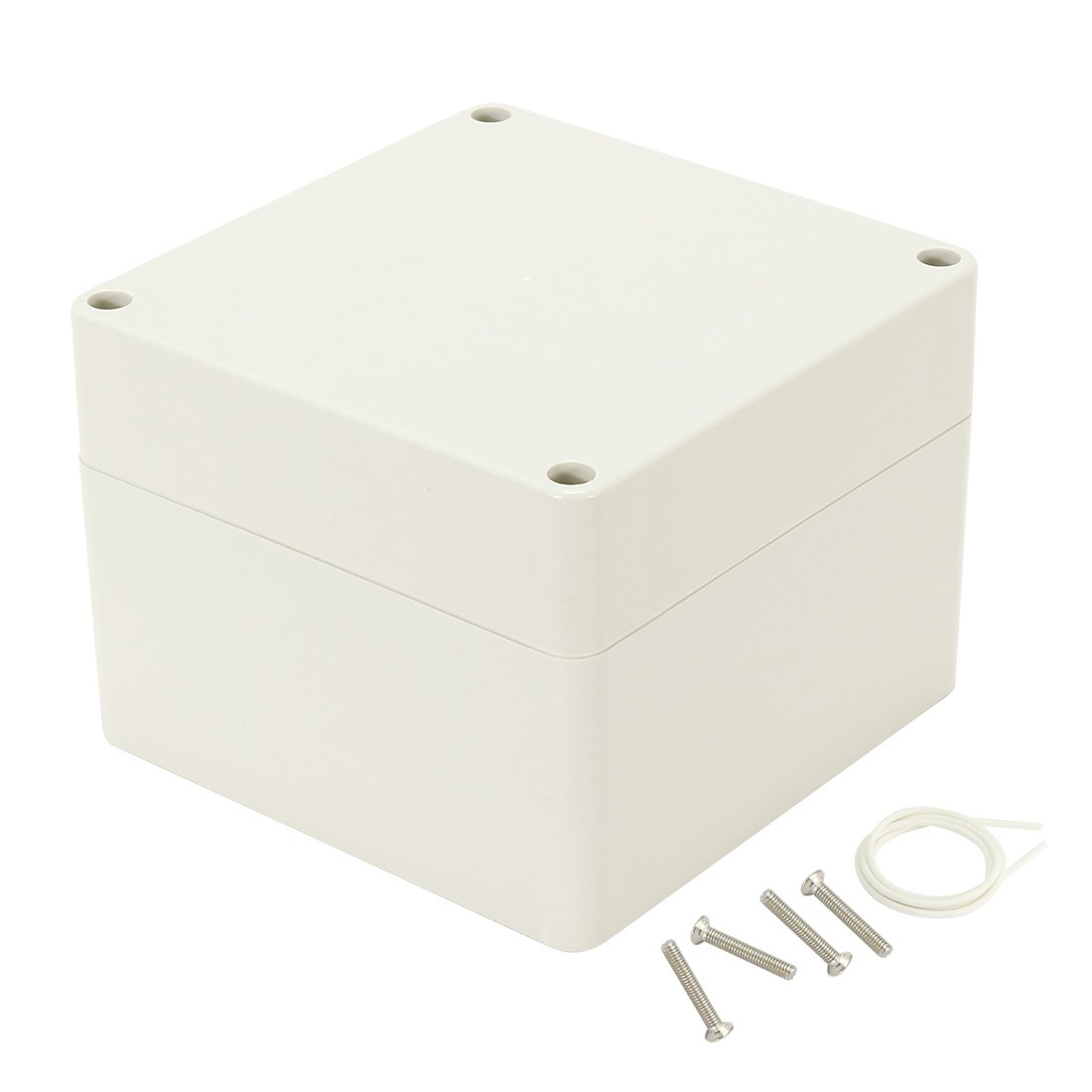 uxcell 4.7x4.7x3.54 120mmx120mmx90mm ABS Junction Box Universal Electric Project Enclosure