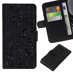 Stuss Case / Funda Carcasa PU de Cuero - Simple patrón de 14 - Samsung ALPHA G850